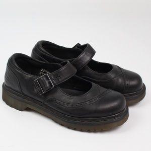 Dr. Martens Alison black mary jane shoe buckle